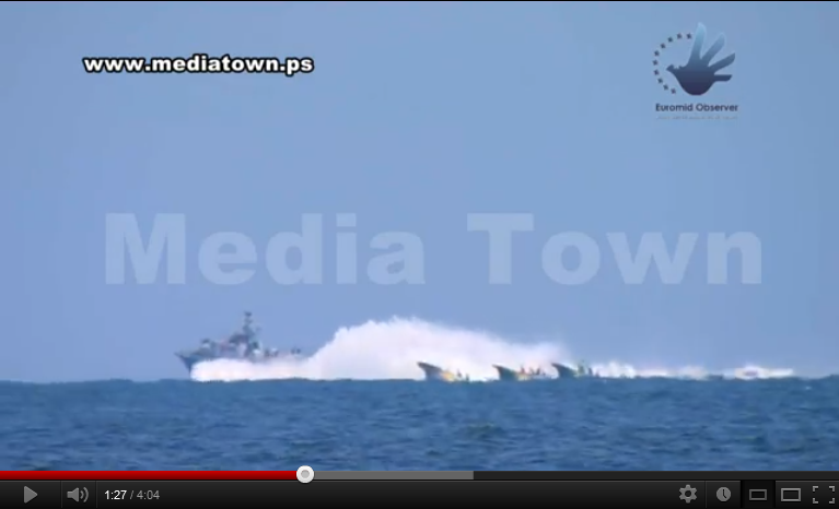 Euro-Med Monitor Unveils Footage of Israeli Warships Deliberately Dumping Palestinian Fishing Boats